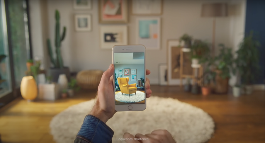 IKEA Place uses AR so users can visualise furniture in their homes.